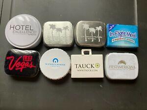 Lot 8 Tins Breath Mints Marriott Vegas Tauck Fiesta Americana Windjammer Barbado