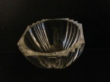 Beautiful Kosta Boda brand Clear Crystal Bowl Art Glass Sweden Signed Excellent