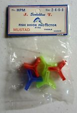 5 Pack Plastic Treble Hook Protector Covers Lures Holders Fits Sizes 2, 4, 6, 8