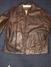 Chaps genuine leather jacket with quilted lining  ...Sz-XL...