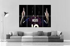 LIONEL MESSI BARCELONA FC FUßBALL Wand Kunst Plakat groß format A0 groß Druck