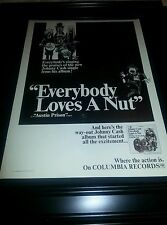Johnny Cash Everybody Loves A Nut Rare Promo Poster Ad Framed!