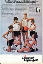 1975 Print Ad of Diamond Crystal Red-Out Salt Water Softener basketball team