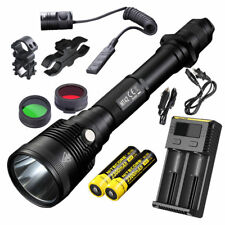 NITECORE MT42 1800 Lm Hunting & Search Flashlight w/ Mounts, Batteries & Charger