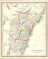More details for 1858 engraved colour map of new south wales for use of scripture students (ma10)