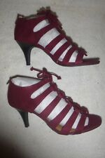 NEW Women's Style & C0 Strappy Heeled Gladiators in Raisin & Chestnut Sz 7M