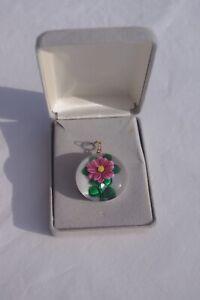 Rare Bob Banford Floral Pendant/Jewellery with Signature Cane in Original Box