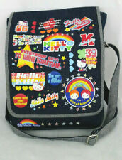 SANRIO SMILES Hello Kitty Denim Tote Messenger Bag Purse Rainbow Colorful