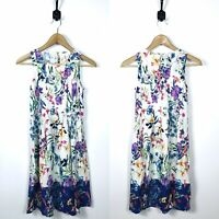 EUC Womens Petite XS Floral Colorful Dress Sleeveless