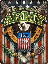 Retro Tin Signs United States Army Poster Metal Plate Wall Decor