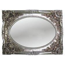 Espejo de Pared Plata Antigua 118x88 Barroco OVALADO pasillo / DORADOS MARCO