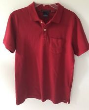 Scotch and Soda Mens Slim Fit Polo Garment Dyed Maroon Size S  New