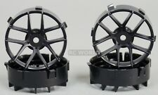 Tetsujin JASMINE  RC Car 1/10 Wheels BLACK Adjustable Offset 3-6-9mm -4 RIMS