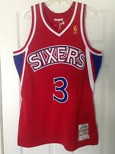 NWT Mitchell & Ness Allen Iverson Jersey 44 Large Philadelphia 76ers Sixers
