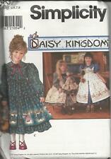 DAISY KINGDOM DRESS PATTERN- SIZE 5,6, 7,8,-& DOLL-0637
