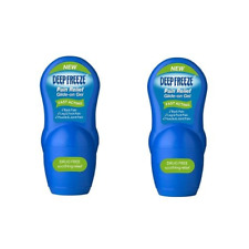 2x Deep Freeze Pain Relief Glide on GEL Drug 50g Travel Size