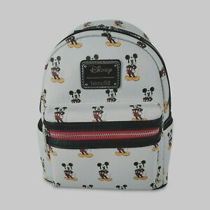 Loungefly Disney Mickey Mouse LIMITED EDITION GRAY RETRO Mini Backpack 1/600