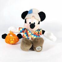 Disney Mickey Mouse Scarecrow Costume Magic Kingdom Halloween Beanbag Plush NMWT