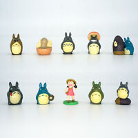 10PCS My Neighbor Totoro Studio Ghibli Anime Action Figure Kids Toys Cake Topper