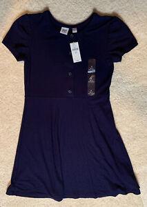 BNWT GAPKids S (6-7) Little Girl Short Sleeved Dark Blue Dress