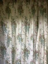 Laura Ashley Curtains & Two Cushions Duck Egg Pistachio Downton Chateau Chic
