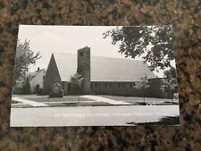 Vintage 1950s Postcard RPPC MN St Matthews Lutheran Church Danube Photograph