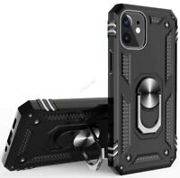 For iPhone 12 Pro Max TPU Ring Holder Case Dual Layer Heavy Duty Kickstand Cover