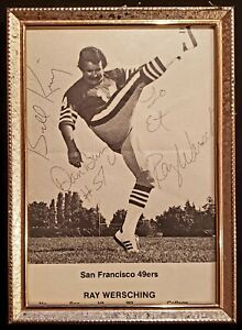SF 49ers Signed Dan Bunz #57 + Ray Wersching + Bill Ring Autographed Framed Pic