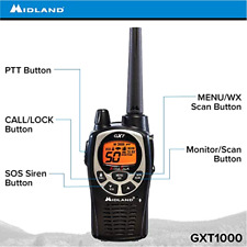 Midland - GXT1000VP4, 50 Channel GMRS Two-Way Radio - Up to 36 Mile Range Walki