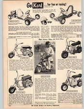 1967 PAPER AD Fox Mini Bikes Super Little Gen Motor Bike Go Kart Cart