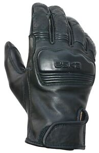 ESKA Blacky Motorcycle Gloves Black RRP £55 *FAST & FREE UK DELIVERY*