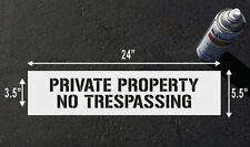 Private Property No Trespassing Stencil Sign for Wall Pole and Floor