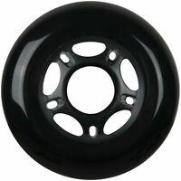 Inline Skate Replacement Wheel 80mm 82A Black Outdoor Roller Hockey Rollerblade