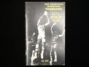 1970-71 San Francisco Warriors NBA Basketball Yearbook