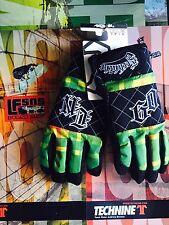 Brand New Technine Flannel Snowboard Gloves Rasta Size XL Retail 89.99