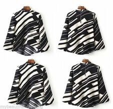 Unbranded Polyester 3/4 Sleeve Geometric Tops for Women