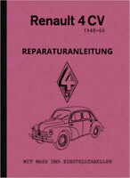 Renault 4 CV Reparaturanleitung Werkstatthandbuch Service Repair Manual 4CV