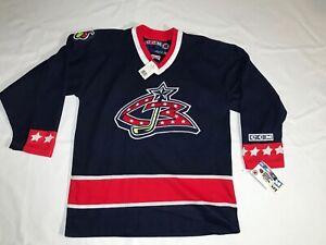 NEW COLUMBUS BLUE JACKETS CCM  Crested NHL Hockey Jersey Youth Sz L/XL