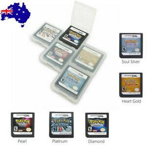For 3DS NDSI NDS NDSL Pokemon HeartGold SoulSilver Game Card US Version NEW AU