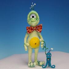 SYLVESTER-OOAK Needle Felted Sculpture by Tanya Abaimova Halloween Alien Monster