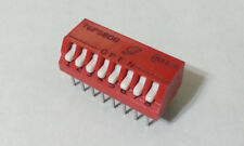 12pcs Grayhill Piano DIP Switches 8-Position OFF ON SPST 76PSB08 PCB Mount -NEW-