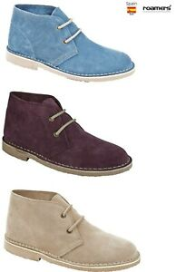 LADIES DESERT BOOTS ROAMERS SUEDE LEATHER  SIZE UK 3 - 8 CLASSIC ANKLE