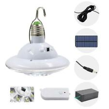 22LED Solar Panel Light Outdoor Camping Tent Hanging Bulb Lamp w/ Remote Control