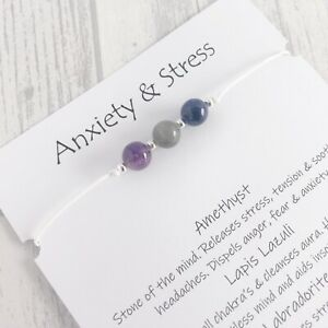 Depression Stress Anxiety Wish Bracelet Gemstone Hope Healing Crystal Gift
