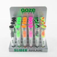 "OOZE Glass Slider - 1 blunt - Orange Pink Black Green - Twist Portable 5"" Size"