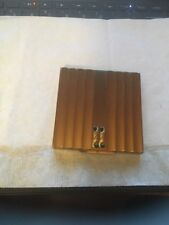 Vintage Henriette Gold Tone Compact, Made In USA