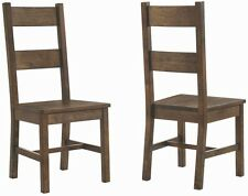 Golden Brown Rustic Dining Side Chair by Coaster 107042 - Set of 2