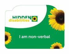 SUNFLOWER ID CARD HIDDEN DISABILITIES DISABILITY AUTISM SEN SEND ADHD NON VERBAL