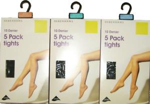 Debenhams 3PP Nude//Light Tan 10D /& 15D shine look tights in S,M,L,XL with Lycra