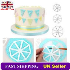 3Pcs Varied Bunting Cutter Icing Fondant Sugarcraft Cake Decorating Mould UK